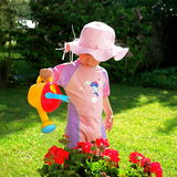 Watering girl Royalty Free Stock Photos