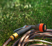 Watering hose Stock Photo