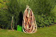 WATERING HOSE  Royalty Free Stock Photography