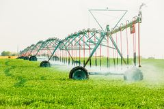 Farming Irrigation system for watering royalty free stock photo