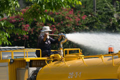 Watering the lawn Stock Photography
