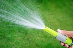 Watering lawn Stock Photography