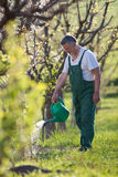 Watering orchard/garden Stock Images