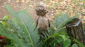 Watering Palm Statue stock footage