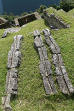 Watering system in the ancient Inca. Dwelling, Machu Picchu, Peru Royalty Free Stock Image