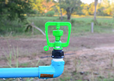 Watering system in gaden Royalty Free Stock Photo