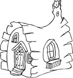 Fairy tale house doodle Royalty Free Stock Photography