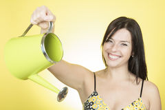 Watering woman Royalty Free Stock Photo