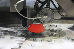 Waterjet cutting of metal Stock Photos