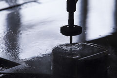 Waterjet metal cutter Royalty Free Stock Image