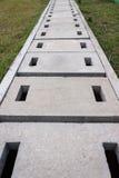 Waterkanaal of buis in een foto van de parkvoorraad Stock Foto's