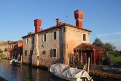 Waterkanalen van Venetië Stock Foto