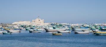 Waterkant in Alexandrië Royalty-vrije Stock Foto's