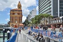 Waterkant in Auckland Stock Foto's