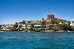 Waterkant die, Sydney Australia leven stock foto