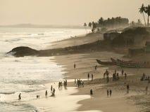 Waterkant in Ghana Royalty-vrije Stock Fotografie