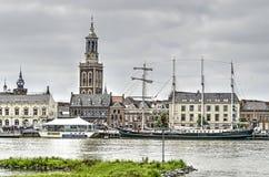 Waterkant in Kampen Stock Afbeelding