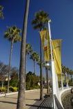 Waterkant in Lang Strand, Californië Royalty-vrije Stock Foto's