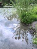 Waterkant op het meer Weissensee Royalty-vrije Stock Foto's