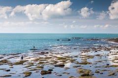 Waterkant van Cadiz stock afbeelding