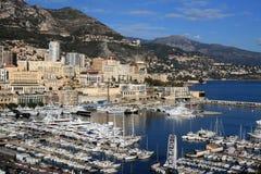 Waterkant van Monte Carlo in Monaco Stock Afbeelding