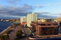 Waterkant van Sydney, Nova Scotia Stock Afbeelding
