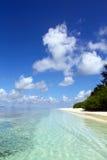 Waterkant van tropisch eiland Royalty-vrije Stock Afbeelding