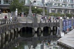 Waterkant Vancouver Stock Afbeeldingen