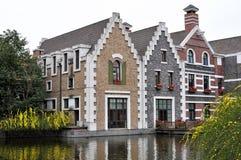 Waterkanthuis Stock Foto