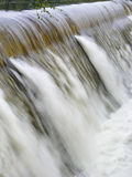 Waterkering in Vloed Stock Foto