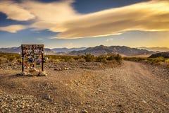 Waterketelverbinding in het Nationale Park van de Doodsvallei, Californië Stock Afbeeldingen
