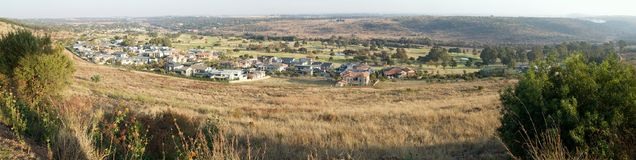 Waterkloof and its golf course, Pretoria, South Africa. A panorama image showing the affluent suburb of Waterkloof in Pretoria, South Africa.  It also has a Royalty Free Stock Images