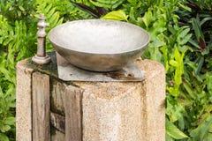 Waterkraan in het park Royalty-vrije Stock Afbeeldingen