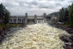 Waterkrachtcentrale in Imatra royalty-vrije stock foto
