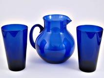 Waterkruik & Glazen Royalty-vrije Stock Foto's