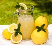 Waterkruik met limonade Stock Afbeeldingen