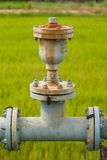 Water pipelines and valve Royalty Free Stock Image