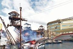 Waterland на студиях Universal Голливуде в Лос-Анджелесе, Калифорнии, США АПРЕЛЬ 2016 Стоковые Изображения
