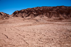Waterless landscape in Moon Valley, Chile Stock Photography