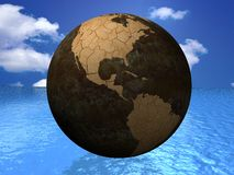Waterless Planet Earth Royalty Free Stock Photos