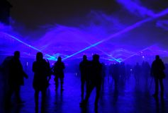 Waterlight Lumiere London Stockbild