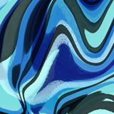 Waterlike Liquid Abstract Background. With bright cyan, ultramarine, and grey and black tones Royalty Free Stock Photos