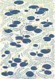 Waterlilies-Muster Lizenzfreie Stockbilder