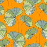 Waterlily无缝的花热带模式 库存照片