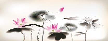 Waterlily绘画 免版税库存照片