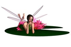 Waterlily Fairy Royalty Free Stock Photos