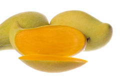 Waterlily Mangoes Isolated Stock Images