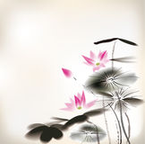 Waterlily painting Stock Photography