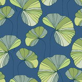 Waterlily seamless flower tropical pattern Royalty Free Stock Images