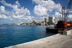 Waterline de Cozumel, México imagem de stock